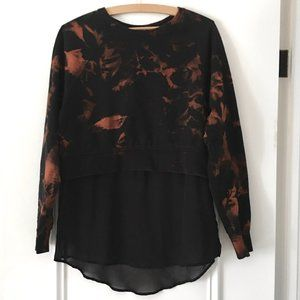 H&M black reverse tie dye sweatshirt tunic top